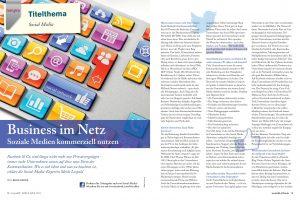 Mein Bericht  für die Zeitschrift Tempra über Business im Netz