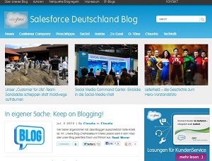 Video: Salesforce Deutschland Blog in Bild und Ton