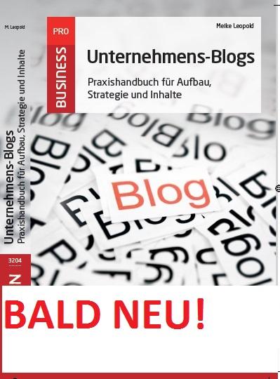 Neuauflage für mein Buch über Unternehmens-Blogs: Eure Tipps?