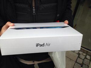 Auf meinem neuen iPad gebloggt
