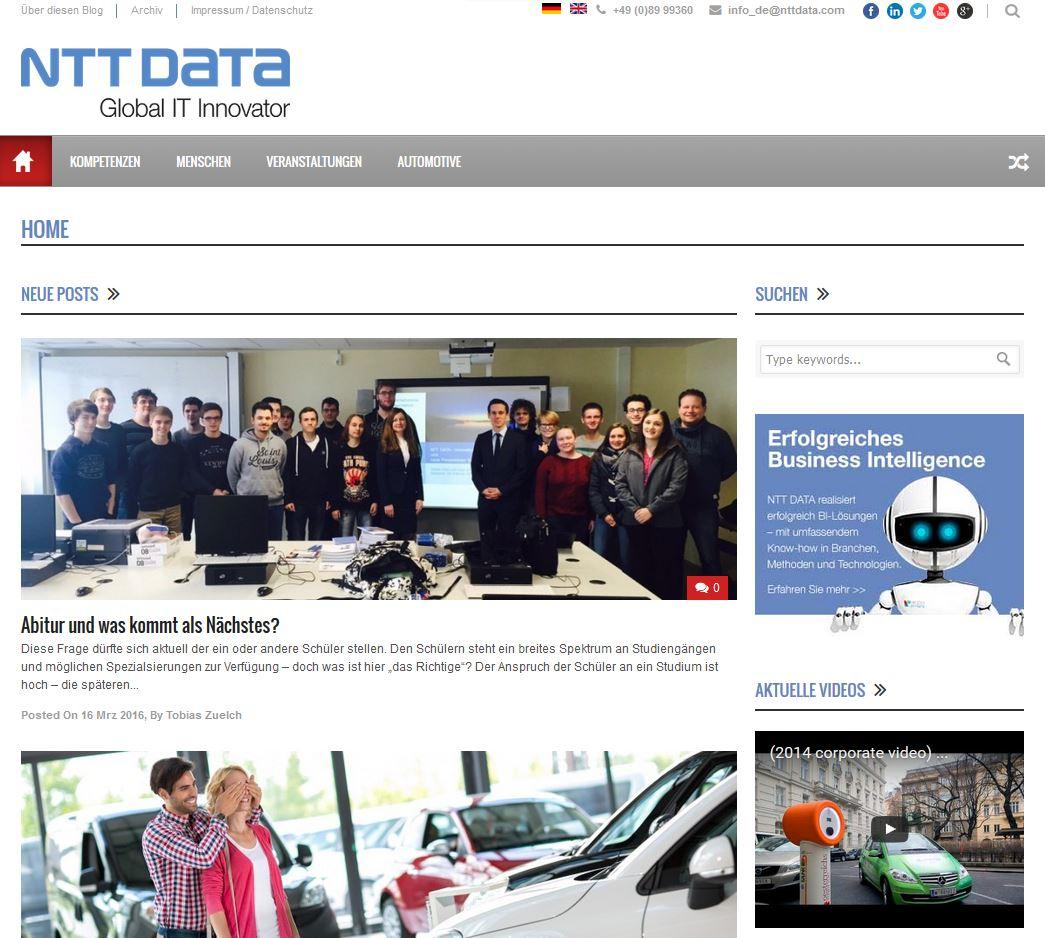 NTT DATA Screen