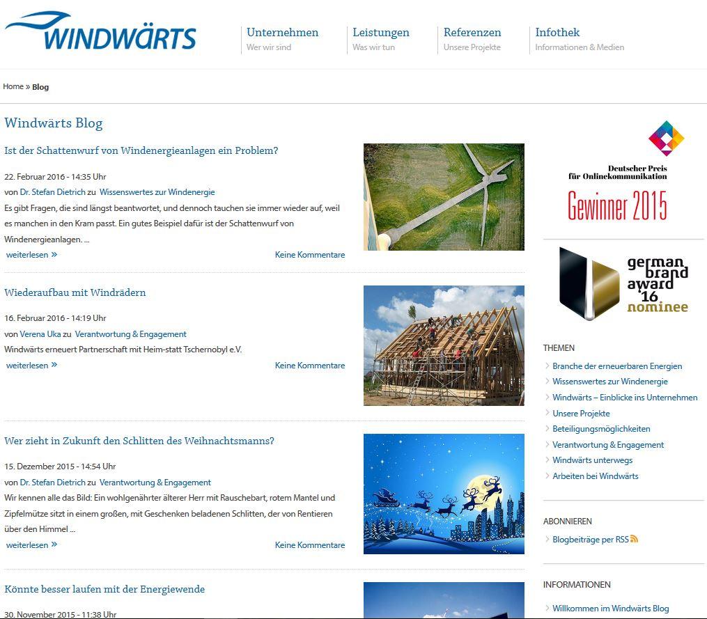 Windwärts Blog