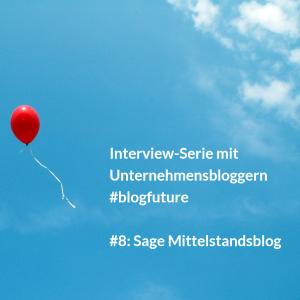 """""""Eine Plattform für alle 100 Sage Blogs geplant"""" #blogfuture"""