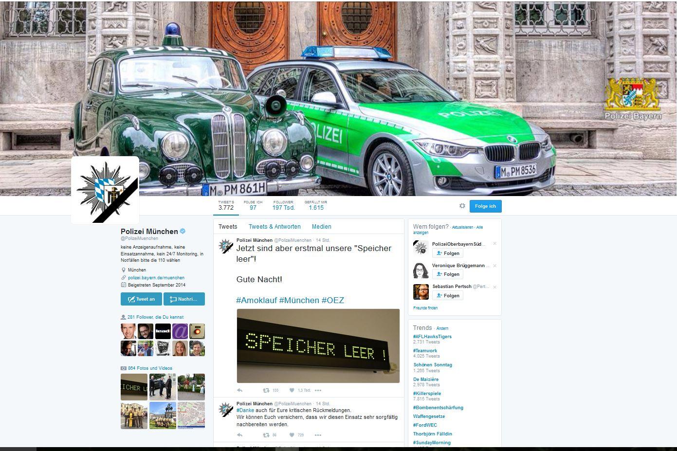 Polizei München auf Twitter: Mehr Relevanz geht nicht