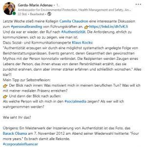 Corporate Influencerin Gerda-Marie Adenau von Siemens