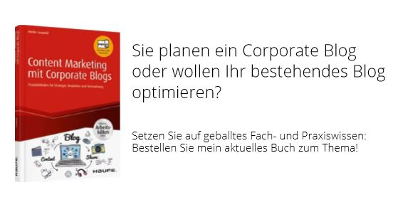 Buch Content Marketing mit Corporate Blogs von Meike Leopold