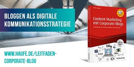 Content Marketing mit Corporate Blogs - jetzt bestellen