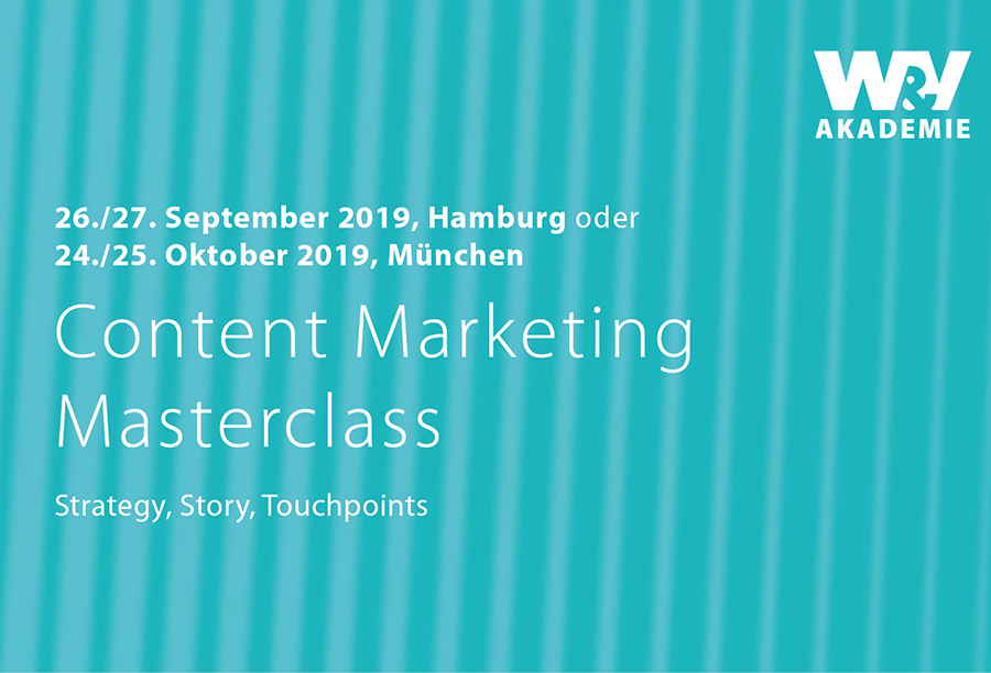 CONTENT MARKETING MASTERCLASS 2019