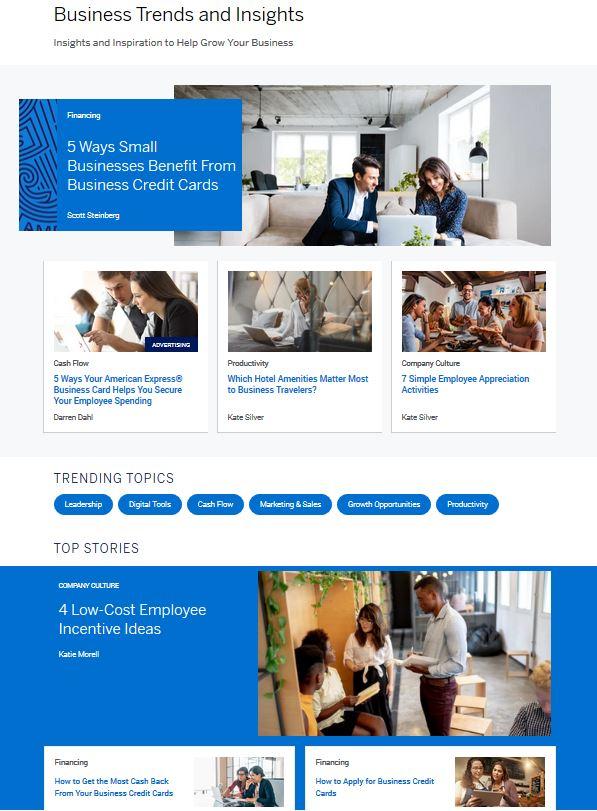 Das Amex Open Forum bietet Gründern und KMU eine zielgruppengerechte Themenwelt.