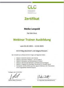 Meike Leopold ist ausgebildete Webinar-Trainerin