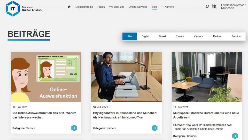 Behörden Blogs Praxisbeispiele: Das Blog München.digital